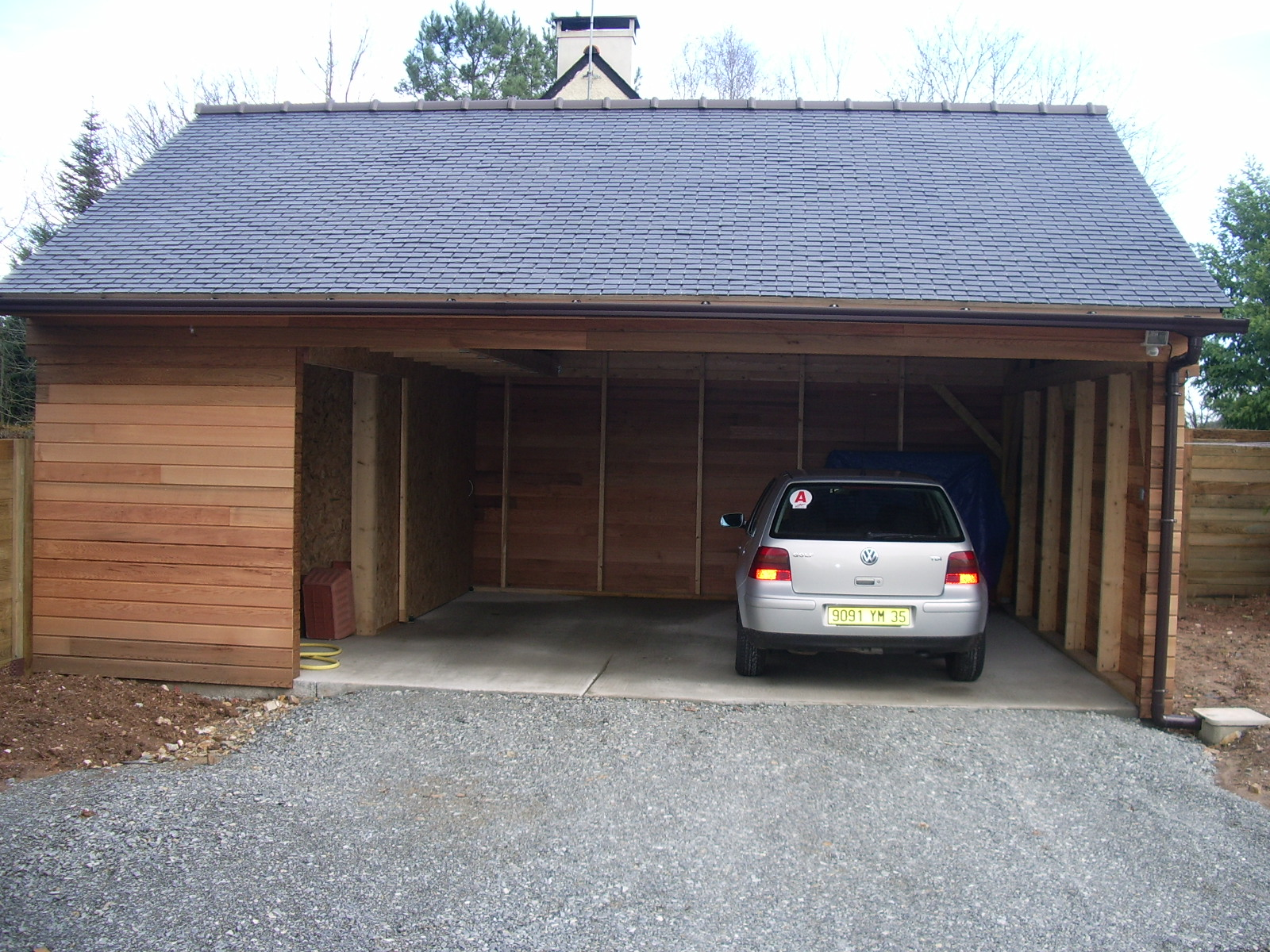 Carport pr aux constructions bois rapha l danet for Carport garage bois